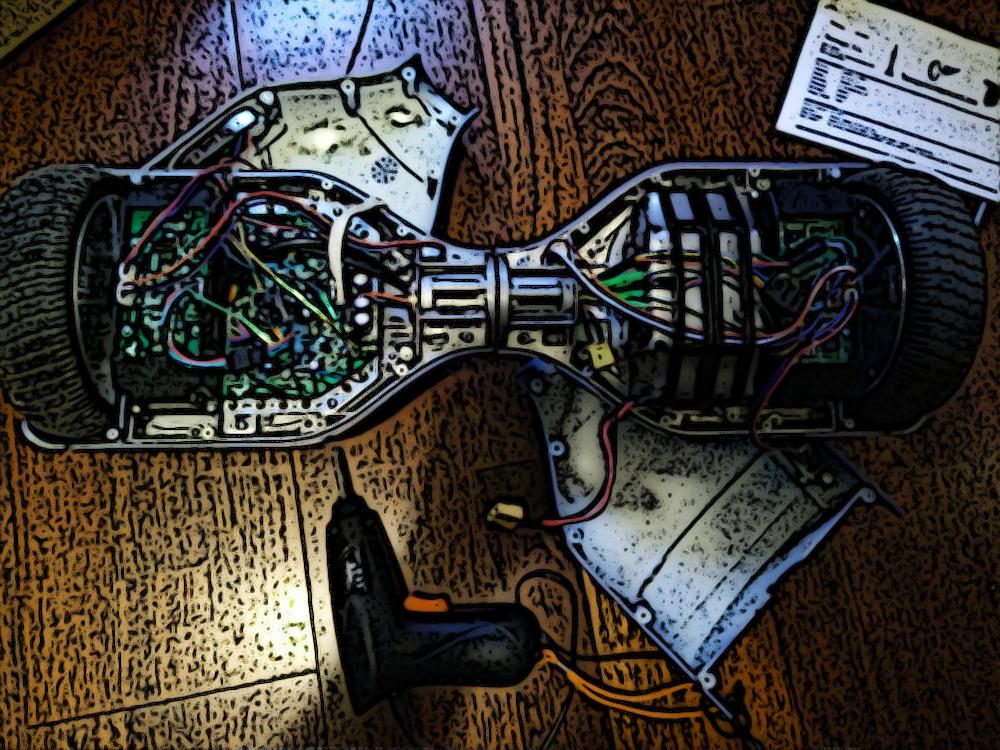 reparación de patinetes eléctricos de dos ruedas de auto equilibrio
