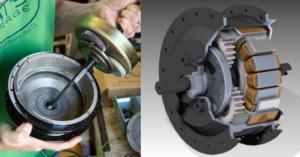 Los geared hub motors son los más populares.