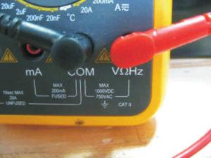 medición del voltage en motores hub