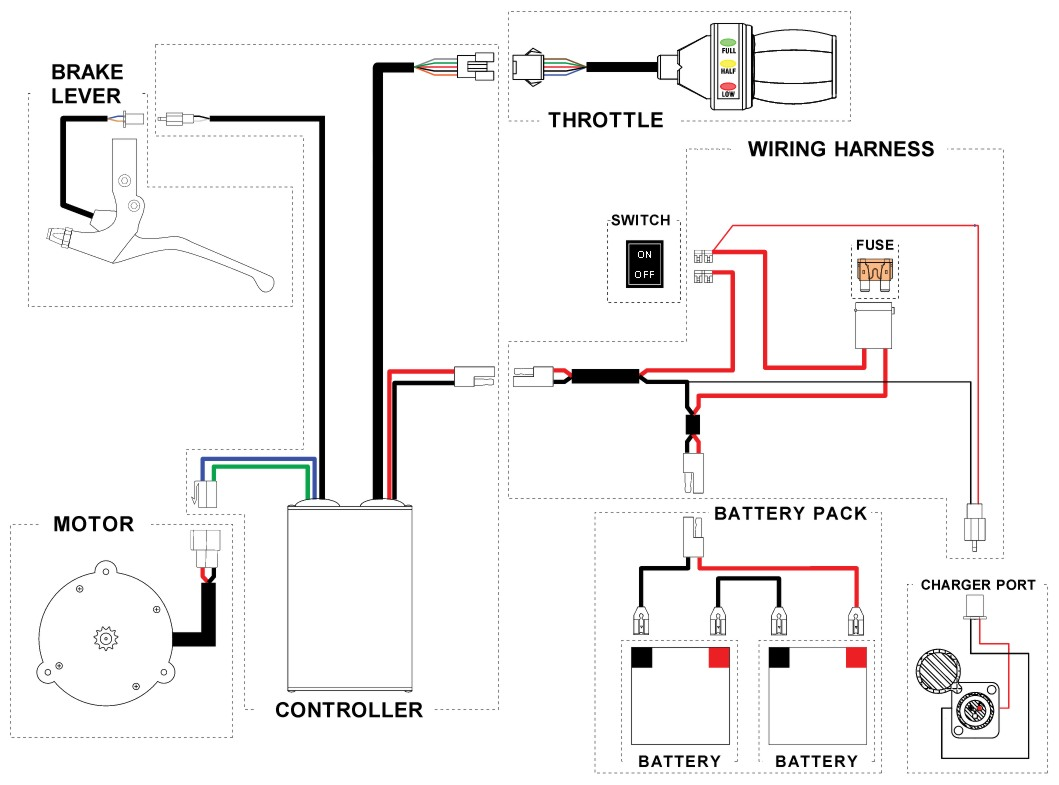 Reparacion Pati es Scooters Electricos on 3 wire switch wiring diagram